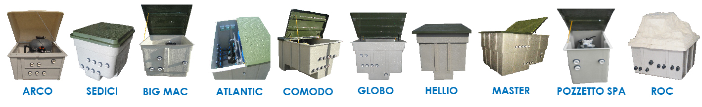 fiberglass pool filtration boxes