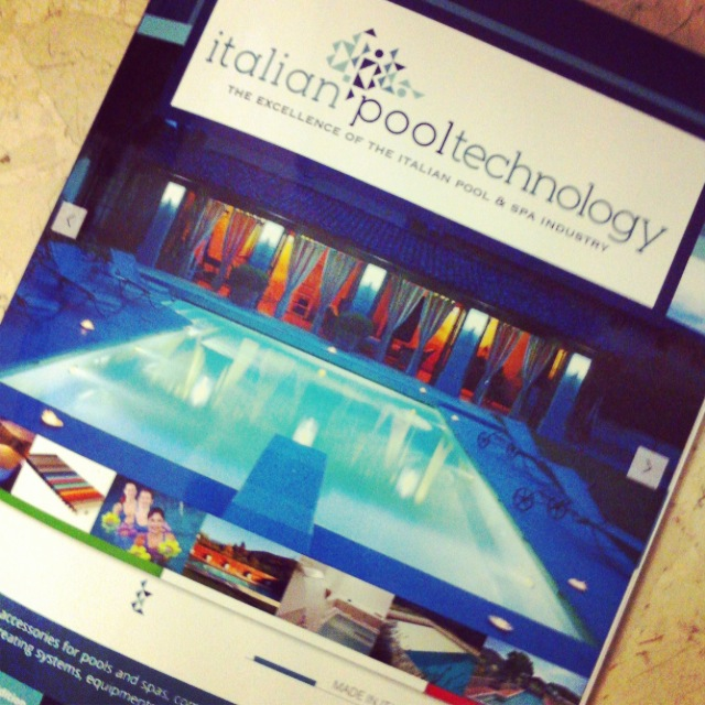 italian pool tecnology magazine cover