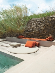outdoor forniture for a swimming pool