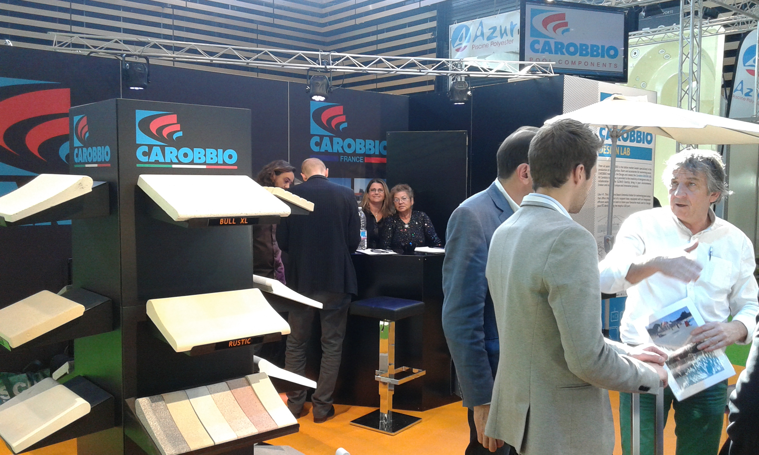 carobbio stand at piscine global 2014