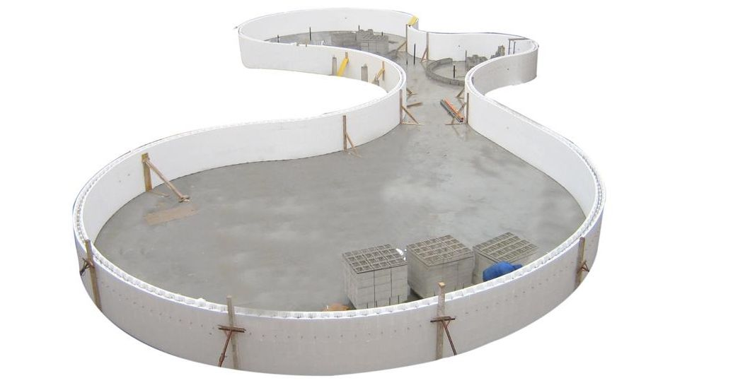 ISOBLOK: polystyrene formwork for pools