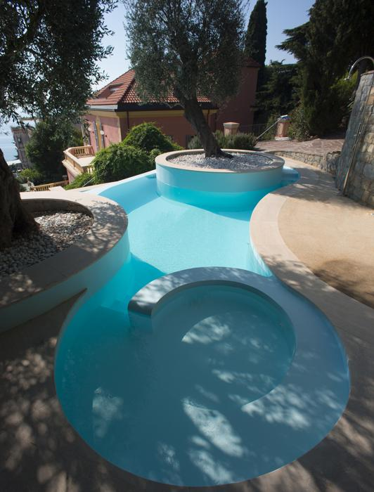 italian, pool, technology, home, olive, tree, free form,
