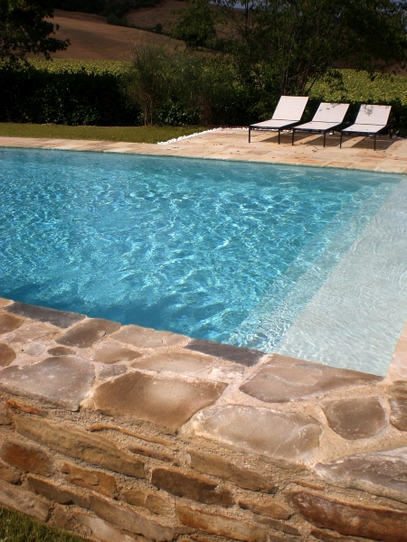 natural stone for a pool