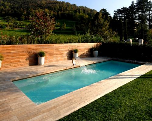 italian pool design deck made by wood