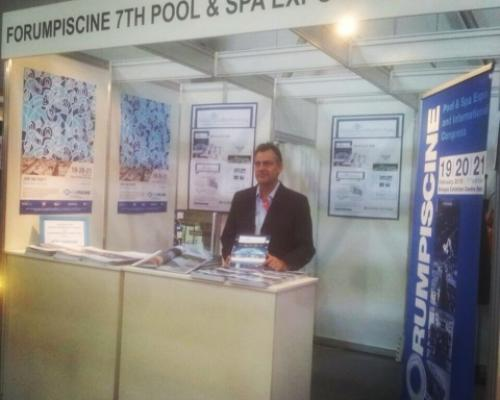 stand italian pool technology at Bazeny y Sauna in Prague